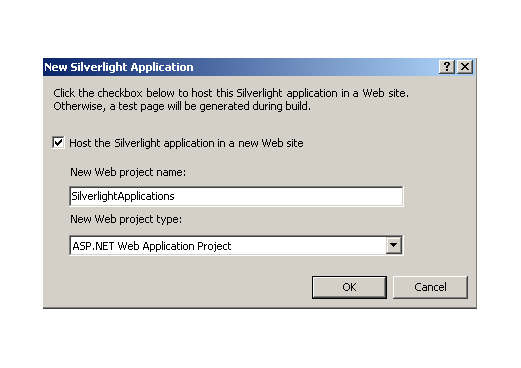 New Silverlight Application